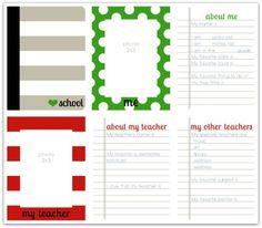 School mini album write click scrapbook page 1