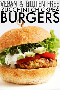 Vegan Zucchini Chickpea Burgers - The Toasted Pine Nut - Trendswoman Vegan Chickpea Burger, Beet Burger, Zucchini Burgers, Vegetarian Options, Vegetarian Recipes, Healthy Recipes, Healthy Menu, Free Recipes, Easy Recipes