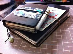 Small Pelle Journal and Large Midori Notebook <3