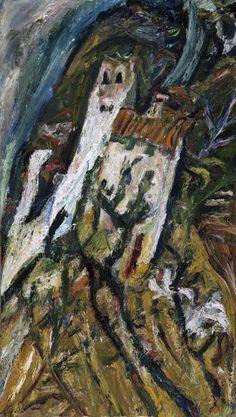 Chaim Soutine - Landscape with White Building (Paysage avec maison blanche)