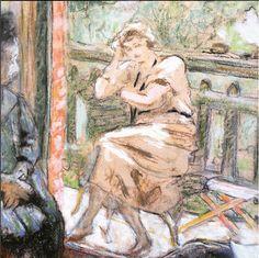 """Edouard Vuillard - """"Anette at Vaucresson"""" ça 1920"""