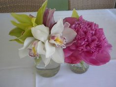 Instead of one large centerpiece, try multiple small pieces with vibrant colors and different textures
