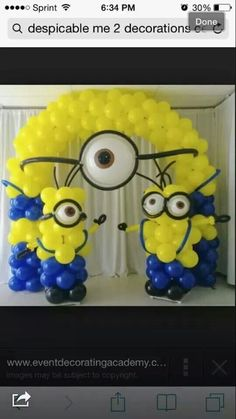 Despicable Me balloons decoration