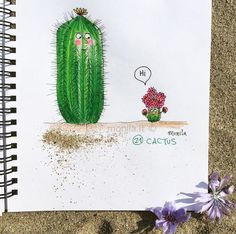 Monila handmade,i ghirigori di Monila,illustrazione,illustration, cactus