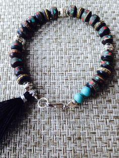 Himalaya Yoga Bracelet with Tibetan Bone Beads by MessyJewelry