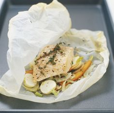 check out my tips for cooking en papillote.  It's just a fancy term for cooking in a pouch.  So easy, flavorful and HEALTHY!