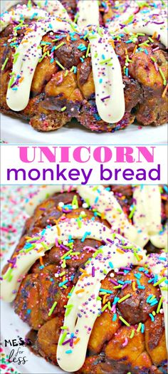 Business Cookware Ought To Be Sturdy And Sensible Unicorn Monkey Bread Recipe - Perfect For The Unicorn Lover In Your Life. Monkey Bread Is Even More Fun When It Is Decorated In A Fun Unicorn Style. Quick Dessert Recipes, Quick Bread Recipes, Baking Recipes, Kinds Of Desserts, Fun Desserts, Delicious Desserts, Butter Finger Dessert, Good Food, Yummy Food