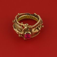 Katharina's gold and ruby ring, Stadtgeshichtelichtes Museum, Leipzig.