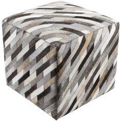 Surya Lycaon Cube Pouf - Animal - LCPF-003