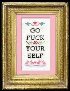 subversive cross stitch- think anyone at the office would notice?