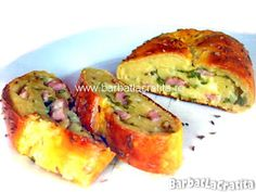 Rulada aperitiv din cartofi Baked Potato, Quiche, Bacon, Healthy Recipes, Healthy Food, Meals, Cooking, Breakfast, Ethnic Recipes
