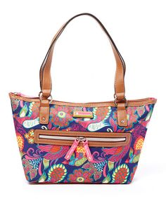Pink Peacock Feathers Everyday Tote #zulily #zulilyfinds