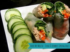Tuna & Hummus Spring Rolls