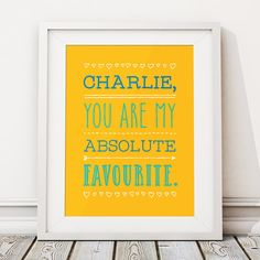 This beautiful unframed 'MY FAVOURITE' personalised print is available from Etsy. The perfect way to tell a friend or loved one what they mean to you! Best Friend Gifts, Gifts For Friends, Happy To Meet You, Personalised Prints, Quote Prints, Print Poster, Poster Wall, Friends In Love, Boyfriend Gifts
