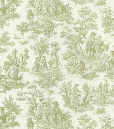 Waverly Upholstery Fabric-Charmed Life/Tarragon