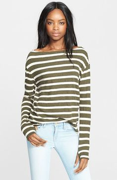 Enza Costa Stripe Cotton Blend Pullover available at #Nordstrom