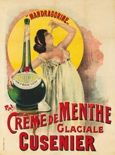 Creme de Menthe Glaciale / Cusenier. ca. 1899 PAL (Jean de Paleologue, 1860-1942)