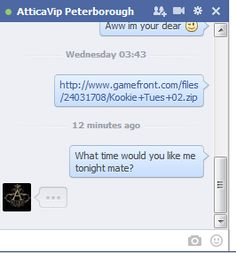Facebook plays key in communicating with the people who hire me, here you can see a conversation with Attica, one of the messages would be me sending them photos the other is me asking about what time i'm required tonight. However I do talk to my clients informaly because of the medium we are using to communicate.