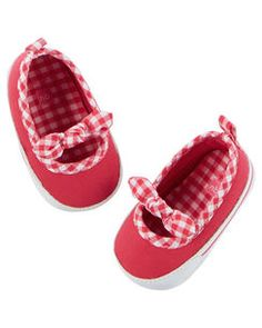 Carter's Mary Jane Crib Shoes