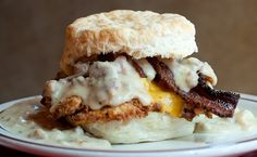 Denver Biscuit Co. 3237 E. Colfax Denver, CO 80206  We're on Colfax & Adams, in the heart of the Bluebird District. We share space with The Atomic Cowboy and Fat Sully's Pizza, meaning you could get three square meals and a night out with us, if you're so inclined.
