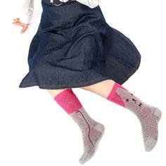 【ココモノママニ】【靴下】ふうせん犬くん ショート(ピンク)