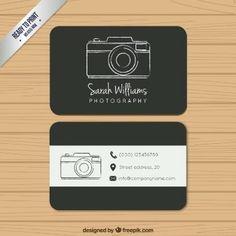 Tarjeta de visita negra de fotografía