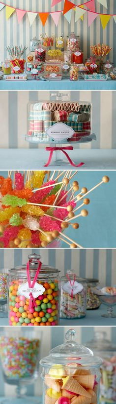 color happy candy buffet