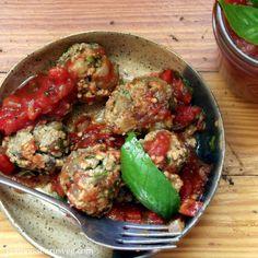 Sauteed Eggplant Meatballs with Fresh Marinara
