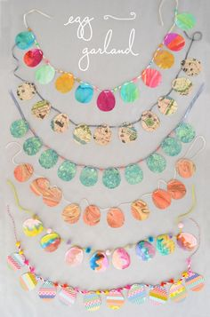 Egg Garland - there are so many other themes you could have the class make banners for...