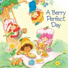 A perfect day starts with brunch with friends! Strawberry Shortcake Characters, Vintage Strawberry Shortcake, Jelly Bears, Huckleberry Pie, Cute Cartoon Characters, Cartoon Posters, Raspberry Tarts, Kawaii Doodles, Rainbow Brite