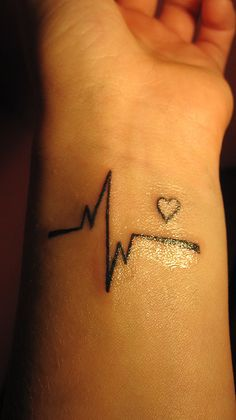 heartbeat tattoo #heart #pulse