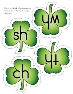FREEBIE: St. Patrick's Day Digraph Activities: sh, wh, th, ch.