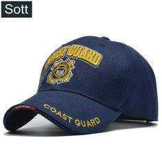 SOTT  Casual USA Coast Guard Army Baseball Cap Bone US Navy Hat Snapback  Caps ba80a015359f