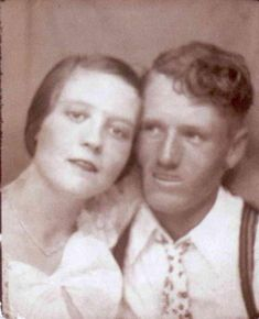 Vernon & Gladys Presley...Elvis' Parents In Their Younger Days...A Rare Picture Find...Note How Much Elvis Resembles Both His Beautiful, Young Mom and Handsome Dad...Uncanny!!