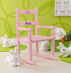 Classic Rocking Chair - Pink - Kidkraft KidKraft Classic Rocking Chair is perfectly kid-sized and durable. Any kid will feel special when they have their own place to sit, read, rock and reflect. Sturdy wood construction makes this rocking chair