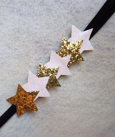 gold and white star headband from Erinn and Company