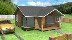 Plano de casa económica de 48m2 y 3 dormitorios