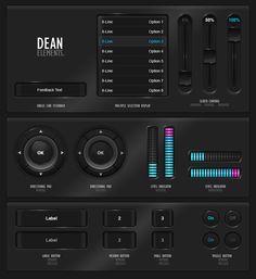 """GUIFX Elements Pack """"Dean"""". by *Pureav on deviantART"""