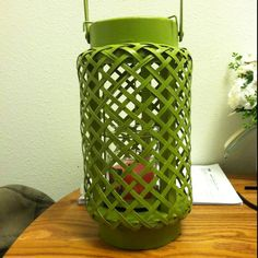 Candle wicker lanterns I'm going to have on the parch area at the reception.