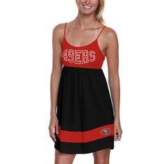 Men's San Francisco 49ers '47 Brand Scarlet Stacked Logo V-Neck T-Shirt