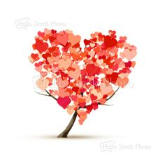 heart shape tree - Royalty Free Stock Photo - Markus Gann