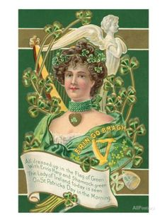 Old Fashioned St. Patrick's Day Greeting Art Print