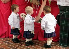 it doesn't get any more adorable than three wee Scotsmen in kilts!
