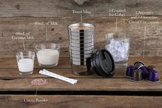 Chocolate Coconut Iced Coffee designed for the new Nespresso Travel Mug. http://j.mp/1bfg46e STEPS: 1. Extract the Arpeggio & Ciocattino Grands Crus as 40ml espressos, add sugar to taste and then 3 ice cubes.  2. Pour coconut milk & milk into Aeroccino with frothing whisk.  3. Press button until blue light comes on to start cold cycle.  4. Pour all milk in to mug with remaining ice cubes.  5. Finish with cocoa powder.