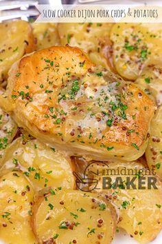 Slow Cooker Dijon Pork Chops & Potatoes