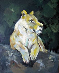 """16"""" by 20"""" - Animal (on board) - Nr.002 - Lion - Museum Quality Oil Painting on Canvas Art by Artseasy on Etsy"""