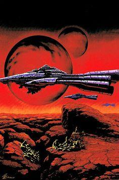 Trippy, Arte Sci Fi, 70s Sci Fi Art, Space Illustration, Classic Sci Fi, Futuristic Art, Environment Concept Art, Science Fiction Art, Arte Pop