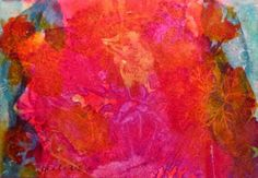 """Daily Painters Abstract Gallery: """"Hot Hot Hot"""", original matted watercolor painting by Karla Nolan"""