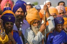 Sikhs at Hollamohallo festival, Anandpursahib, Punjab, India