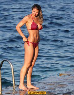 Gemma Atkinson - wearing a Pink Bikini at the Beach (03-15-14) (3).jpg (760×981)